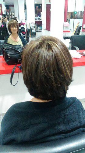 Peinado melena corta
