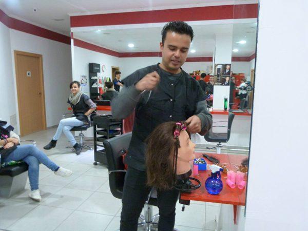 Peinado con cabeza maniqui