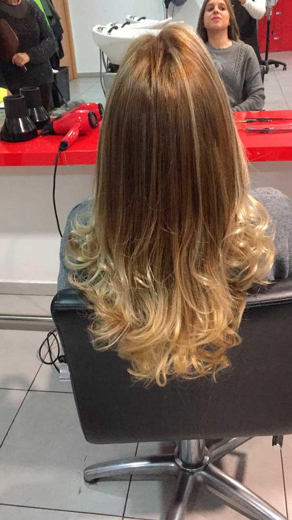 peinado melena larga