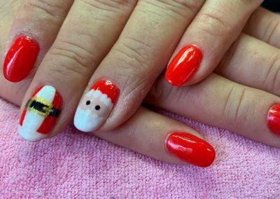 decoración uñas fiestas navidad Reus